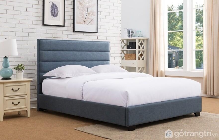 Giường ngủ Hàn Quốc làm bằng nỉ với tông màu đen xám nhìn rất sang trọng - Ảnh: Internet
