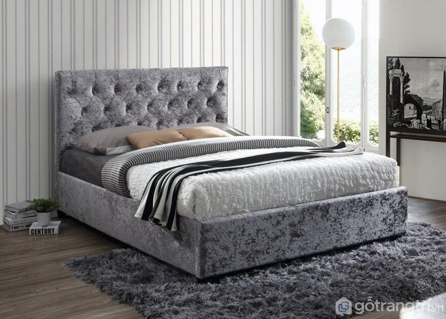 Giường ngủ Hàn Quốc làm bằng nỉ bọc nhung cao cấp rất độc - Ảnh: Internet