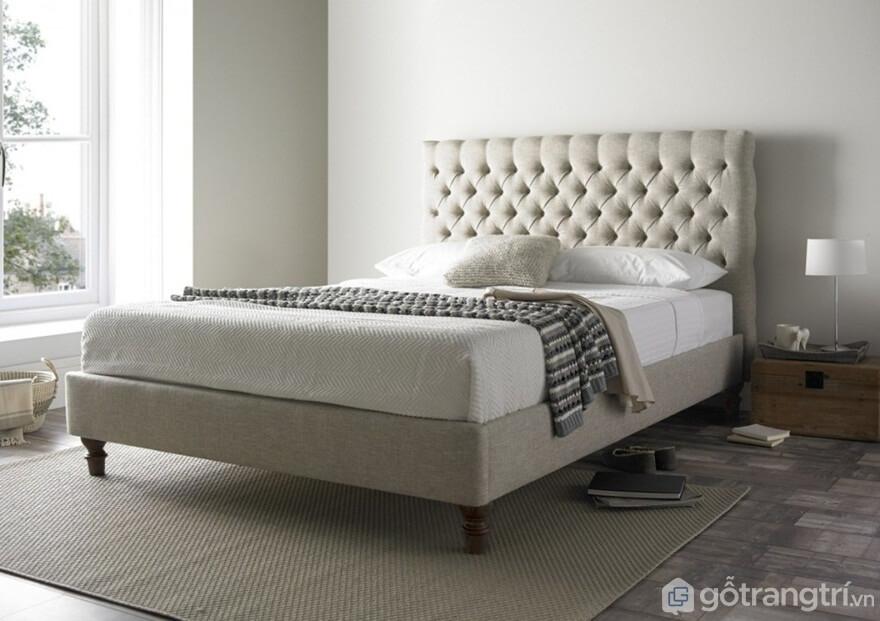 Giường ngủ Hàn Quốc làm bằng nỉ màu xám - Ảnh: Internet