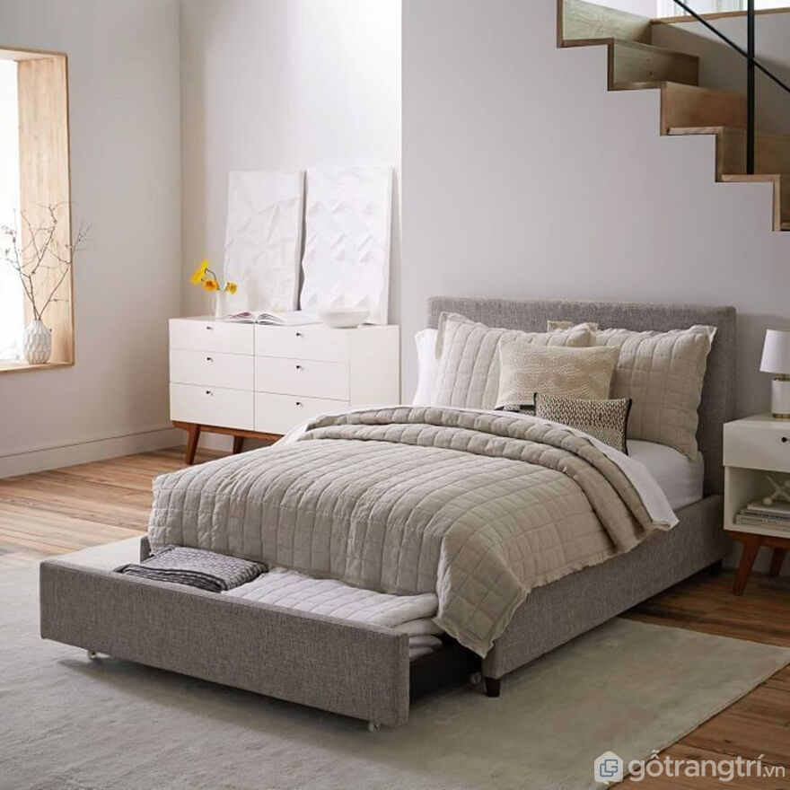 Giường ngủ Hàn Quốc làm bằng tích hợp ngăn kéo đựng đồ - Ảnh: Internet