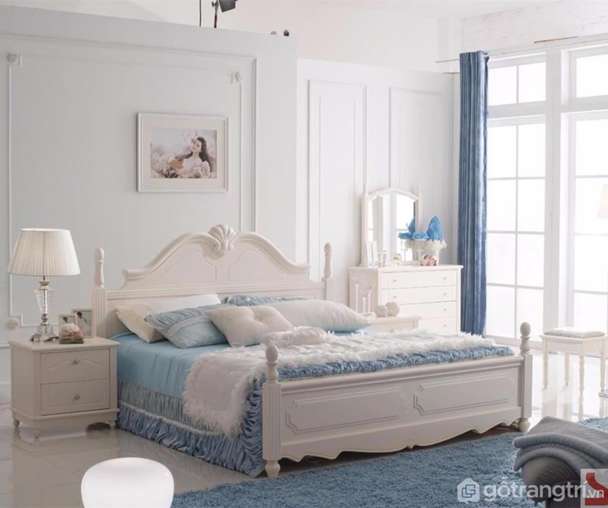 Giường ngủ Hàn Quốc làm bằng gỗ công nghiệp - Ảnh: Internet