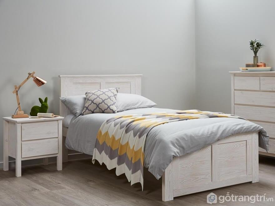 Mẫu giường ngủ Hàn Quốc với thiết kế hiện đại, phù hợp với không gian nhỏ - Ảnh: Internet