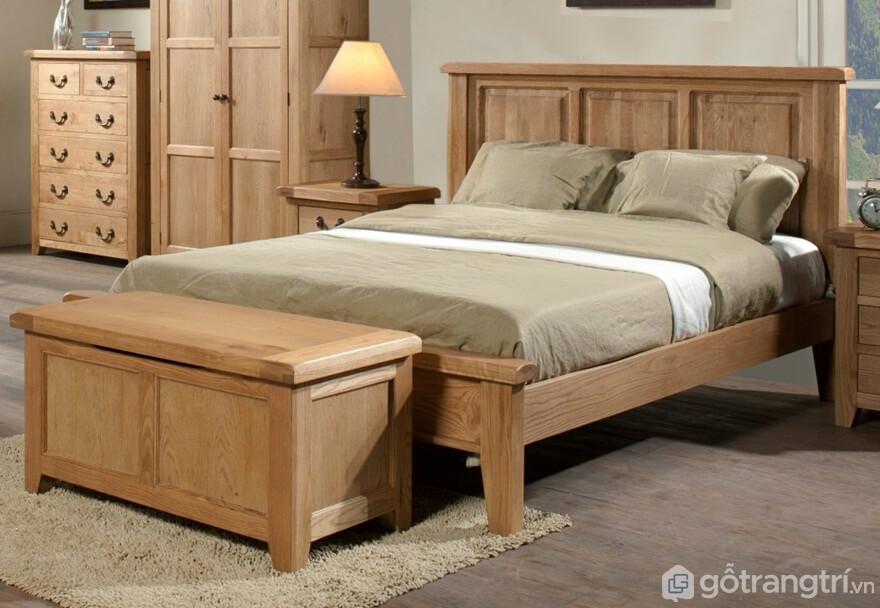 Giường ngủ Hàn Quốc thiết kế khá đơn giản, nhẹ nhàng - Ảnh: Internet