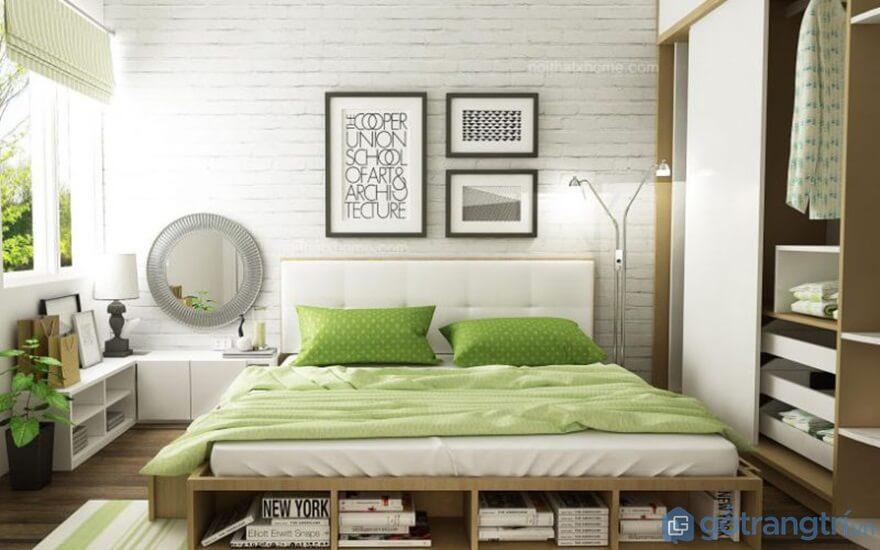 Giường ngủ Nhật kết hợp giá sách, tủ đồ - Ảnh: Internet