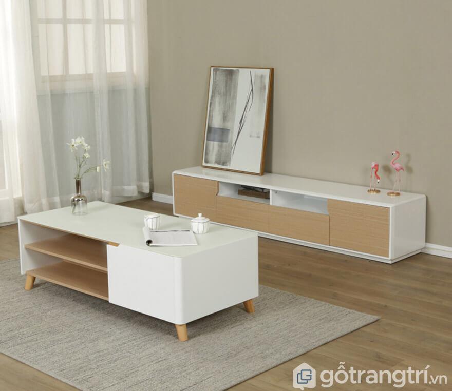 Dễ kết hợp với nhiều mẫu tủ để đồ, bàn trà, ghế sofa trong không gian