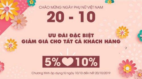 Gỗtrangtrí.vn tung khuyến mãi khủng tưng bừng Chào mừng Ngày 20-10
