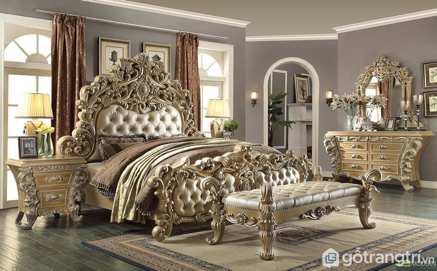 Giường ngủ cổ điển nhìn rất quý tộc - Ảnh: Internet