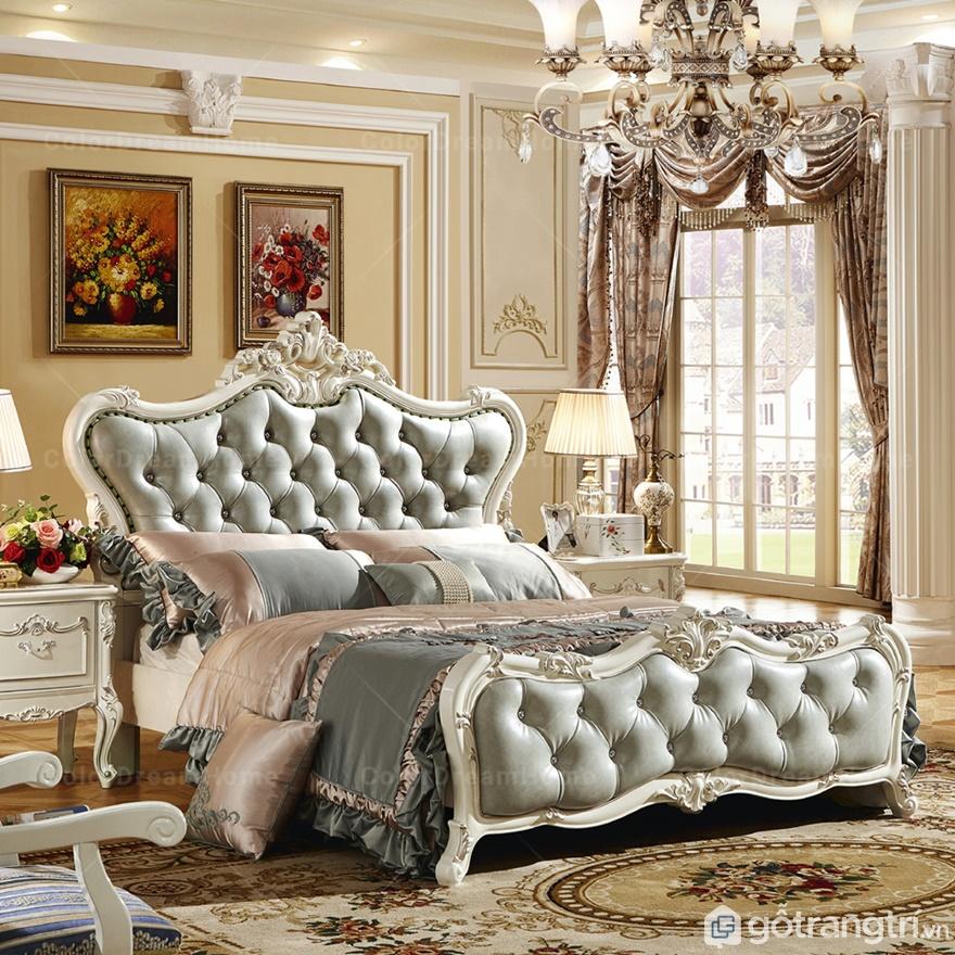 Giường ngủ cổ điển luôn mang phong cách xa hoa, lộng lẫy - Ảnh: Internet