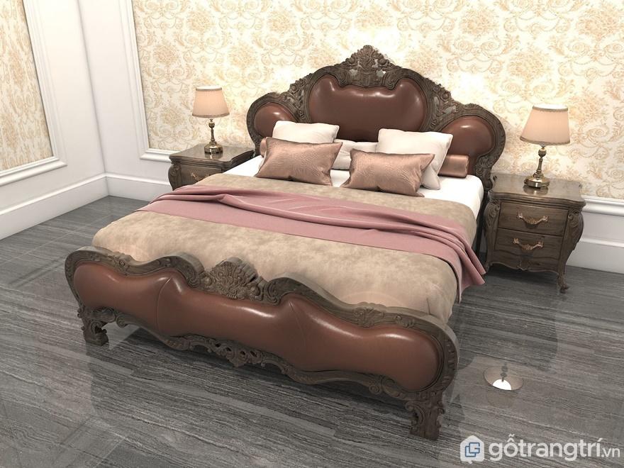 Giường ngủ châu Âu đơn giản trong thiết kế - Ảnh: Internet