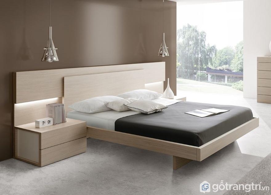 Giường ngủ Nhật thiết kế vô cùng đơn giản - Ảnh: Internet