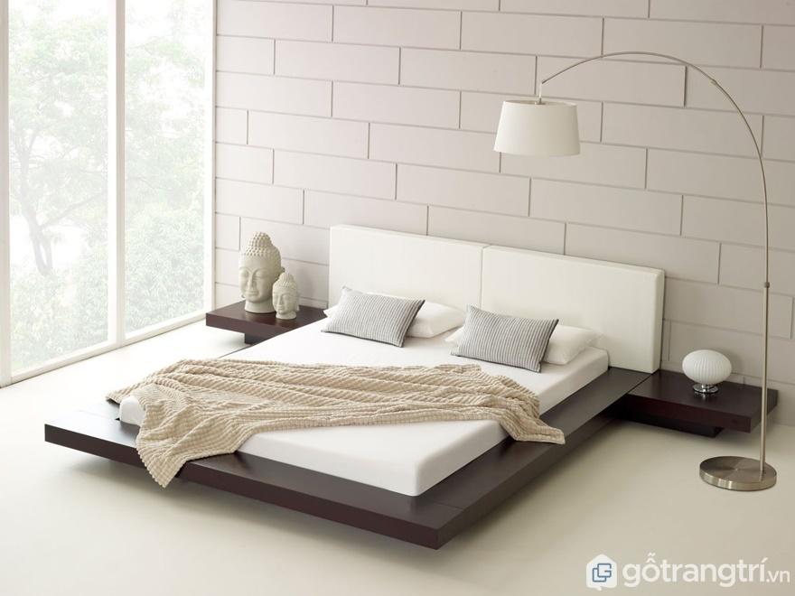 Giường ngủ thiết kế theo phong cách hiện đại nhìn khá đơn giản - Ảnh: Internet