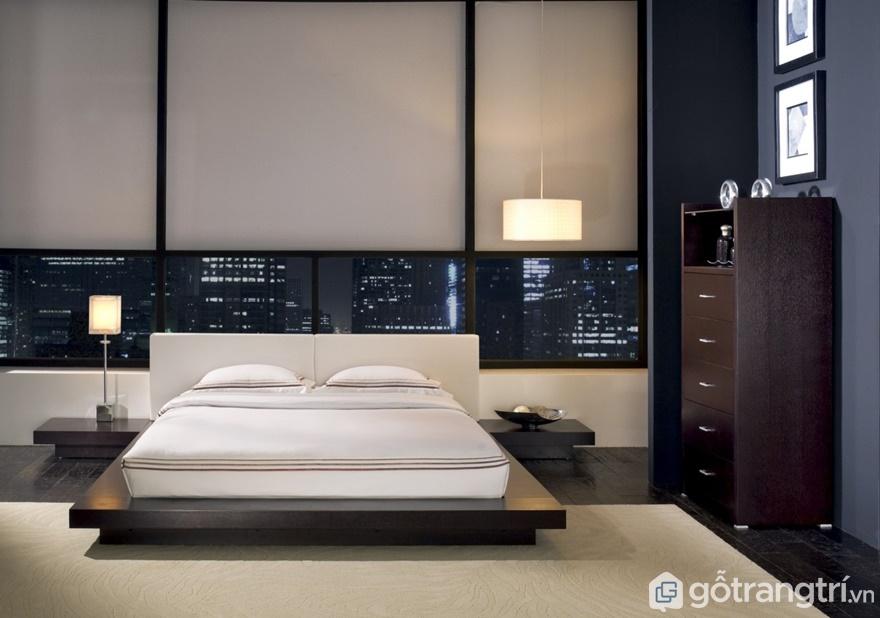 Giường ngủ Nhật thiết kế rất thoáng đạt - Ảnh: Internet