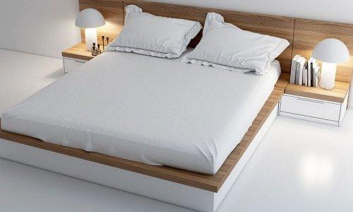 Hé mở mẫu giường ngủ đơn giản đẹp dịu dàng mà không chói lóa