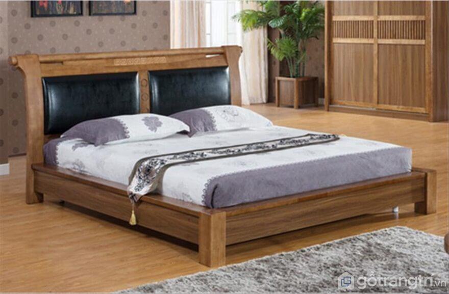 Giường ngủ đơn giản: Phong cách contry style - Ảnh: Internet