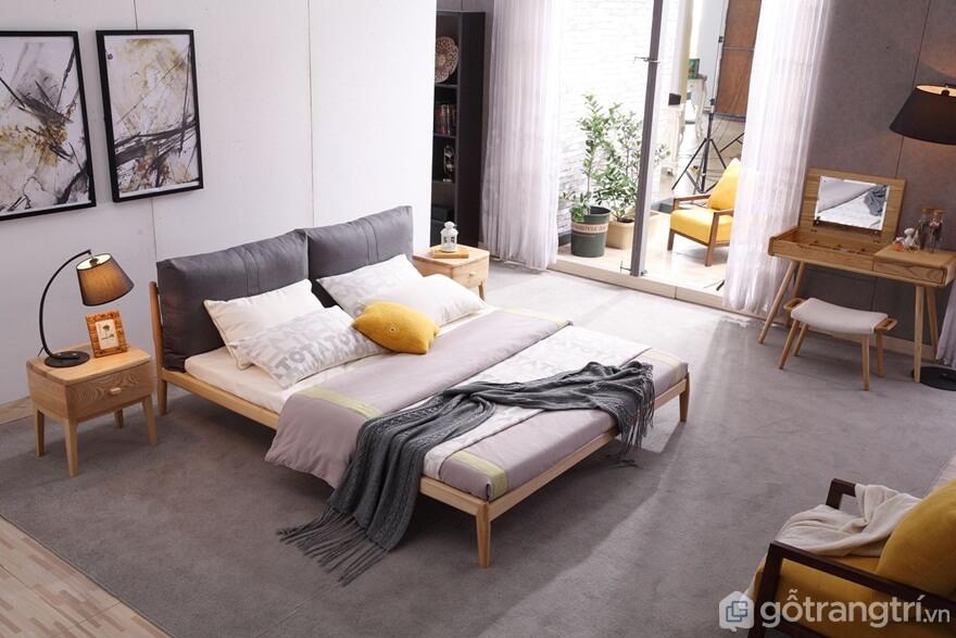 Giường ngủ đơn giản: Kích thước sản phẩm - Ảnh: Internet
