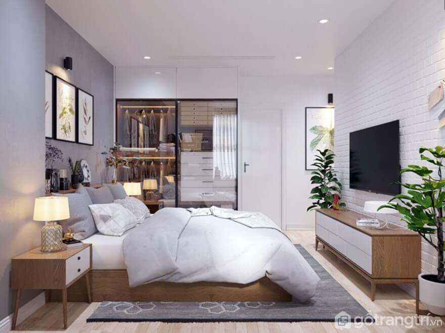 Giường ngủ đơn giản: Phong cách Bắc Âu - Ảnh: Internet