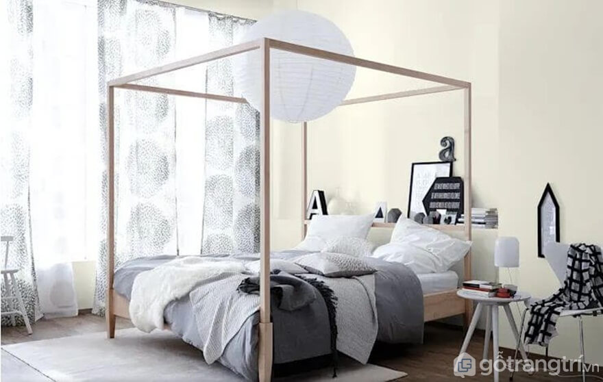 Giường gỗ đơn giản đóng khung độc đáo - Ảnh: Internet