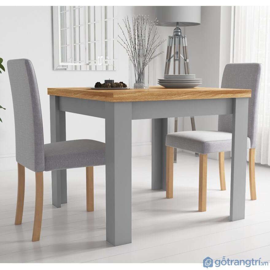 Một bộ bàn ăn 2 ghế giá rẻ được thiết kế khá độc đáo khi có sự xen lẫn giữa bọc đệm và gỗ tự nhiên - Ảnh: Internet