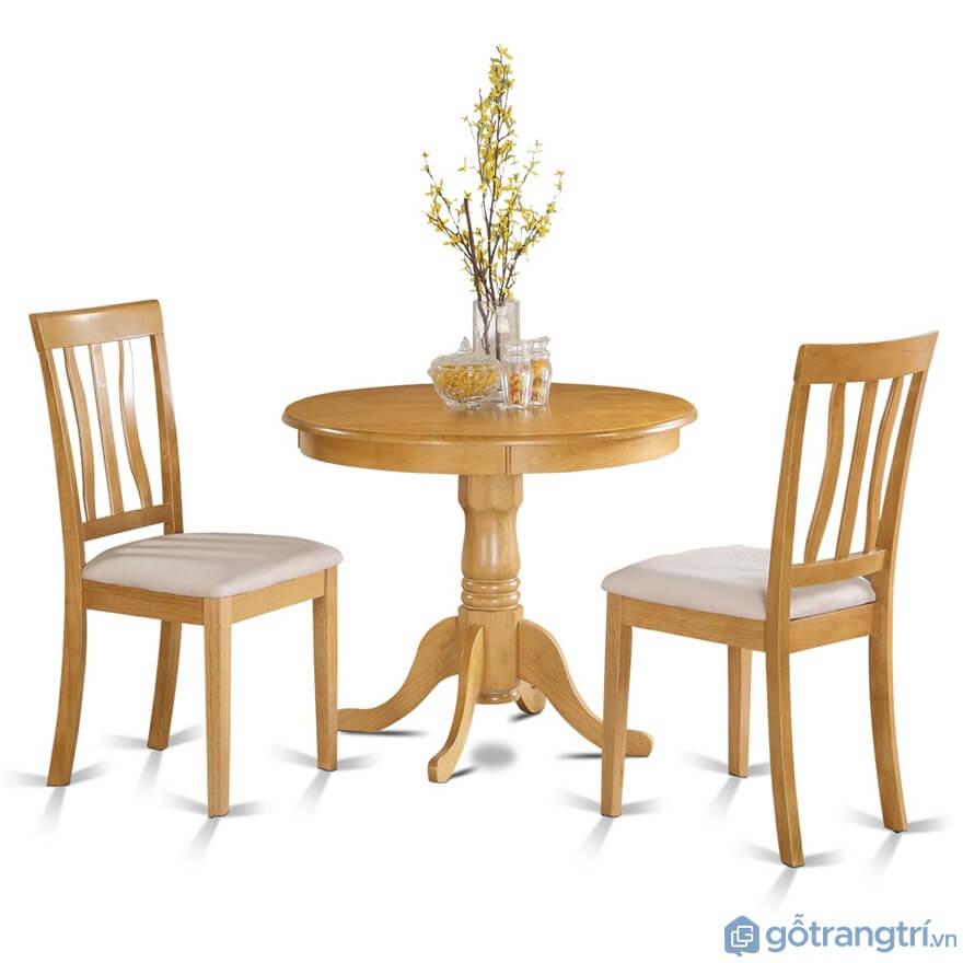 Bàn ăn 2 ghế hình tròn đơn giản - Ảnh: Internet