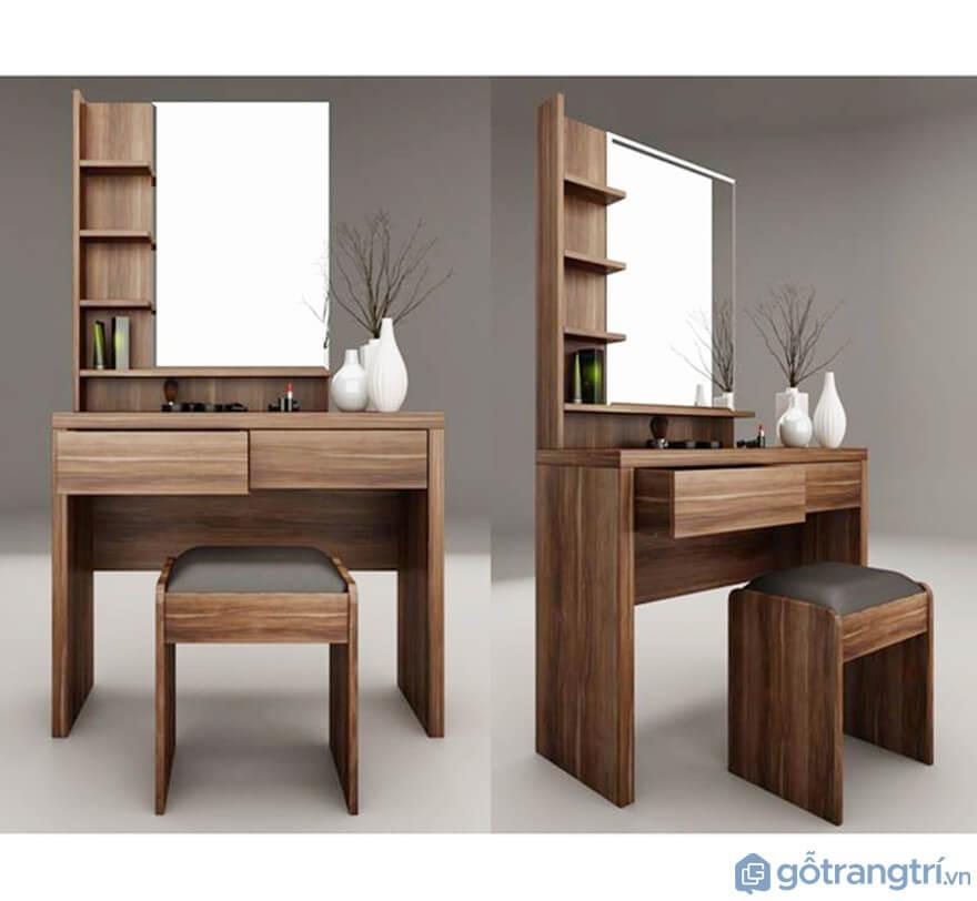 Mẫu bàn phấn trang điểm gỗ công nghiệp MFC đẹp nhất hiện nay - Mẫu 012 (Ảnh: Internet)