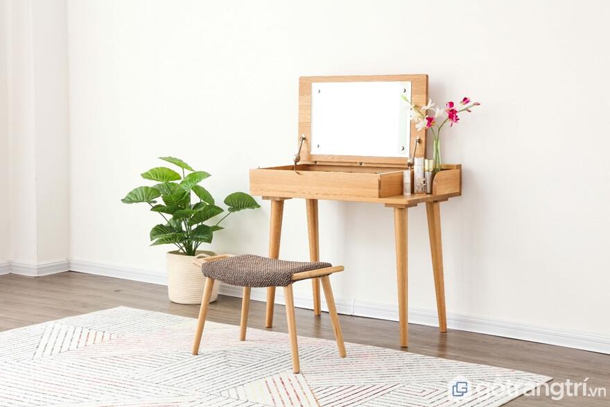 Bàn trang điểm bằng gỗ đơn giản - Ảnh: Internet