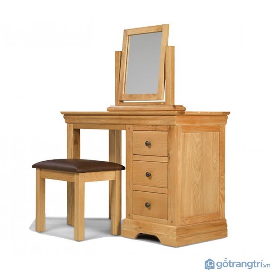 Bàn trang điểm làm bằng gỗ tự nhiên cao cấp - Mẫu 02 (Ảnh: Internet)