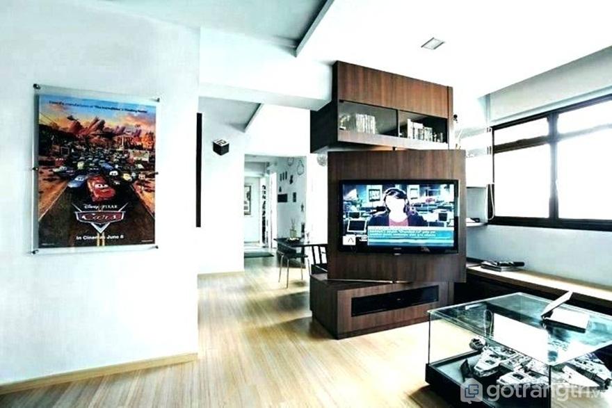 Kệ tivi treo tường 3 tầng - Ảnh: Internet