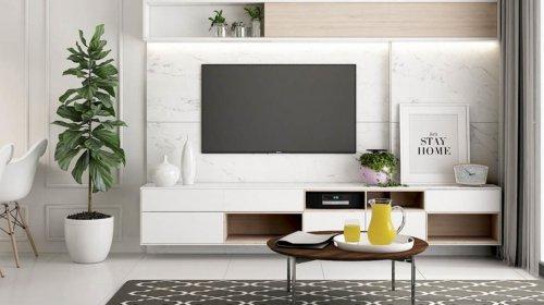 [Tuyển chọn]: Các mẫu kệ tivi 3 tầng đẹp nhất dành cho phòng khách
