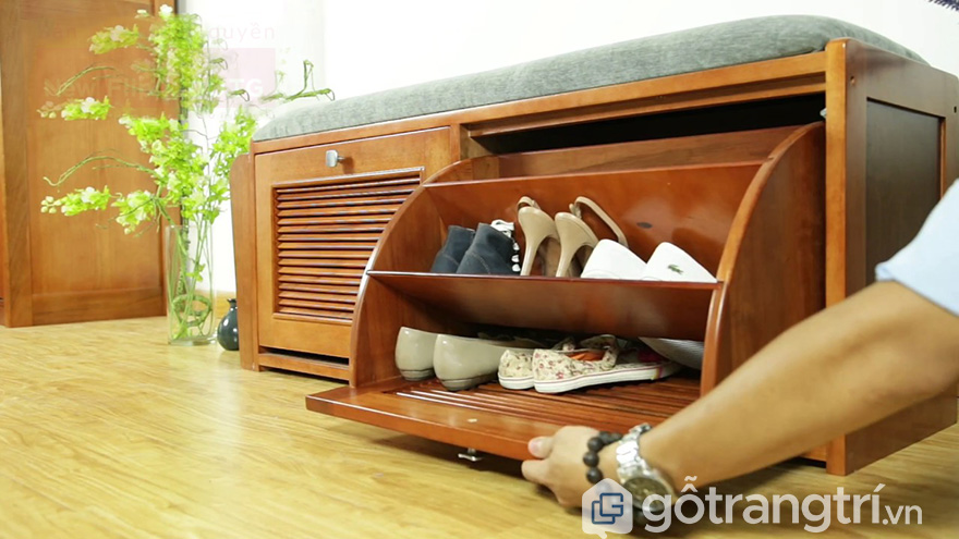 Tủ giày mini cánh lật 2 tầng