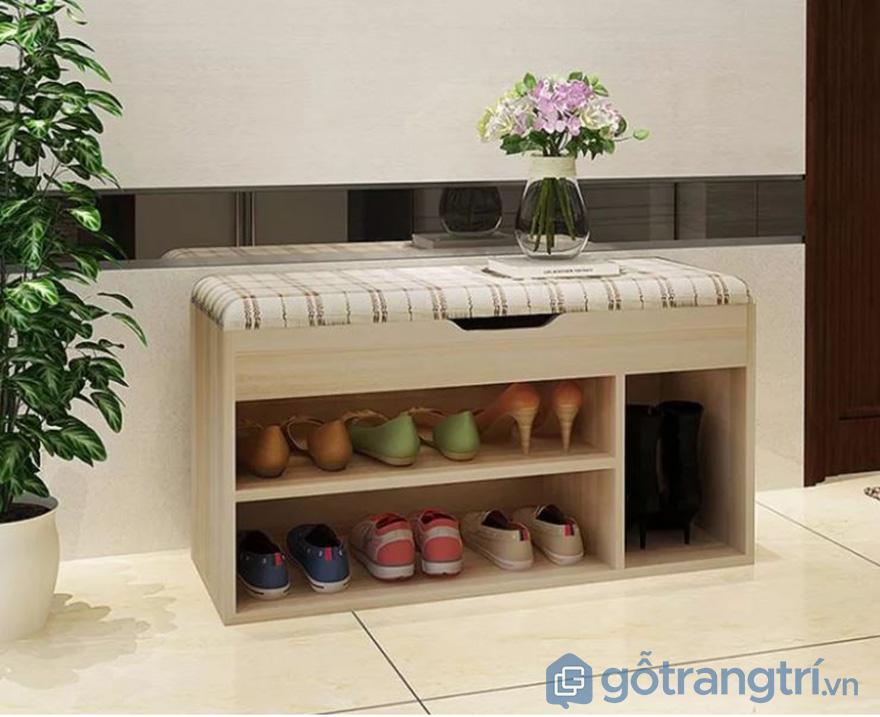 Tủ giầy 2 tầng nhỏ gọn đẹp ấn tượng