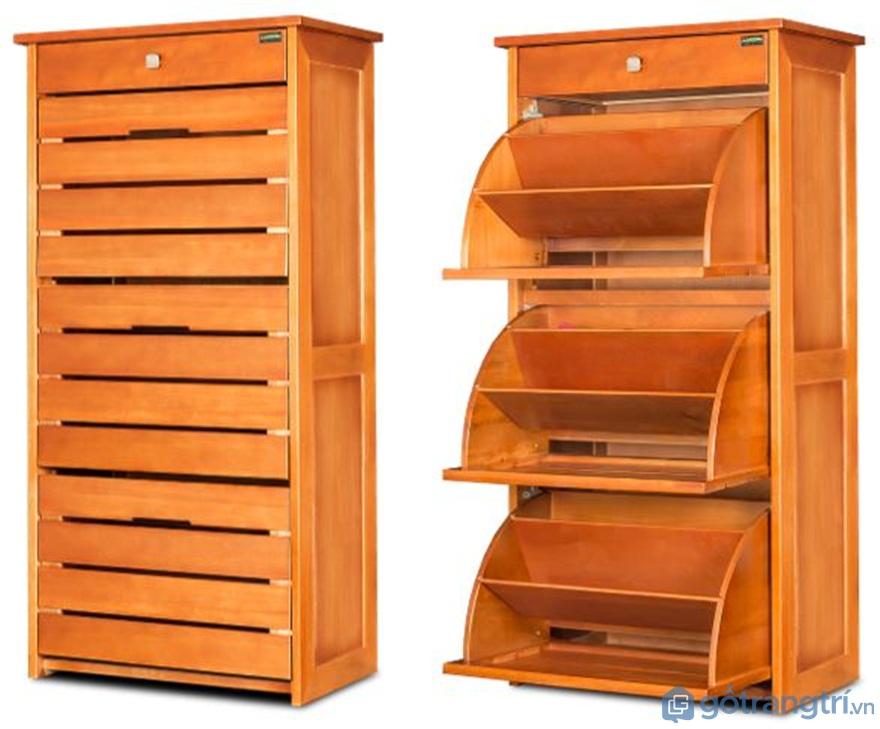 Tủ giày thông minh gỗ tự nhiên - Ảnh: Internet