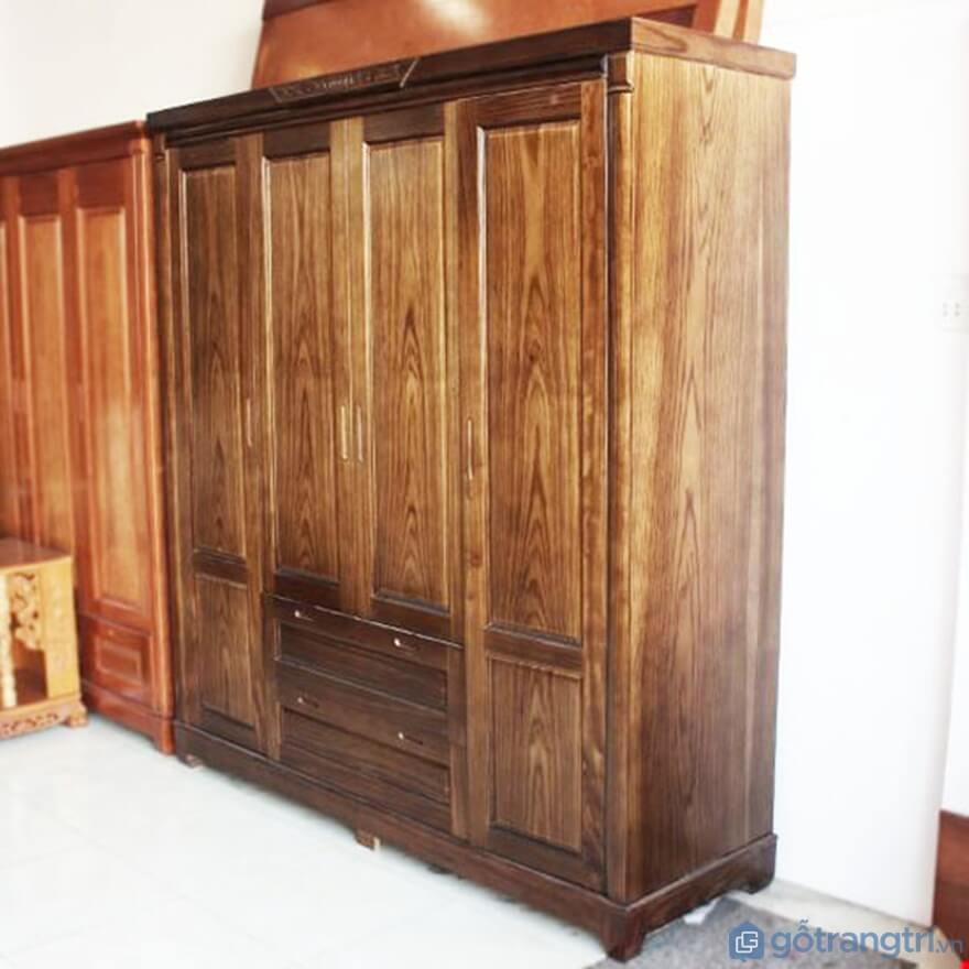 Tủ quần áo 3 buồng gỗ óc chó - Ảnh: Internet
