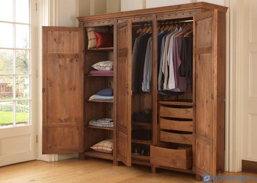 Tại sao tủ quần áo 3 buồng gỗ tự nhiên lại được nhiều người lựa chọn? - Ảnh: Internet