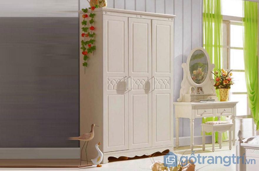 Tủ quần áo Hàn Quốc gỗ tự nhiên