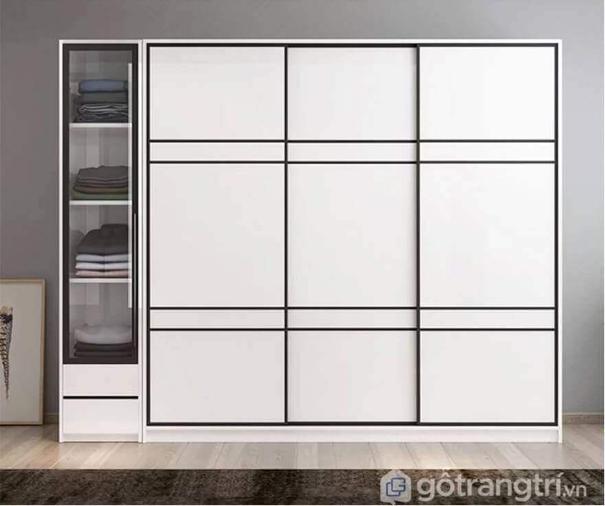 Tủ quần áo Hàn Quốc ấn tượng