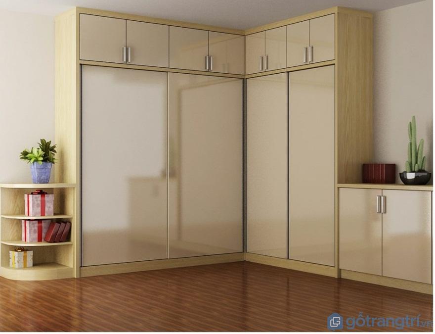 Tủ quần áo hình chữ L đẹp - Mẫu 02 (Ảnh: Internet)