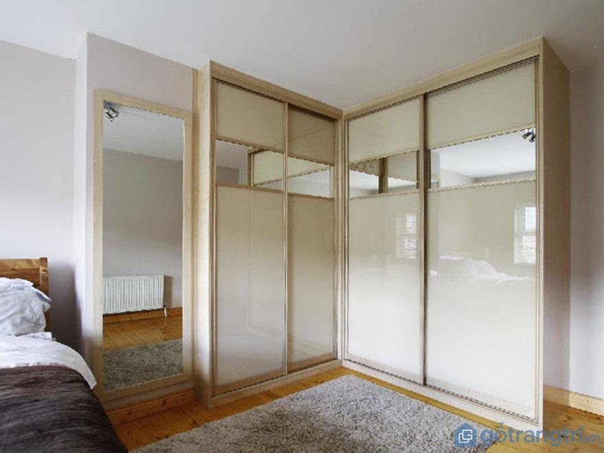 Tủ quần áo hình chữ L đẹp - Mẫu 05 (Ảnh: Internet)