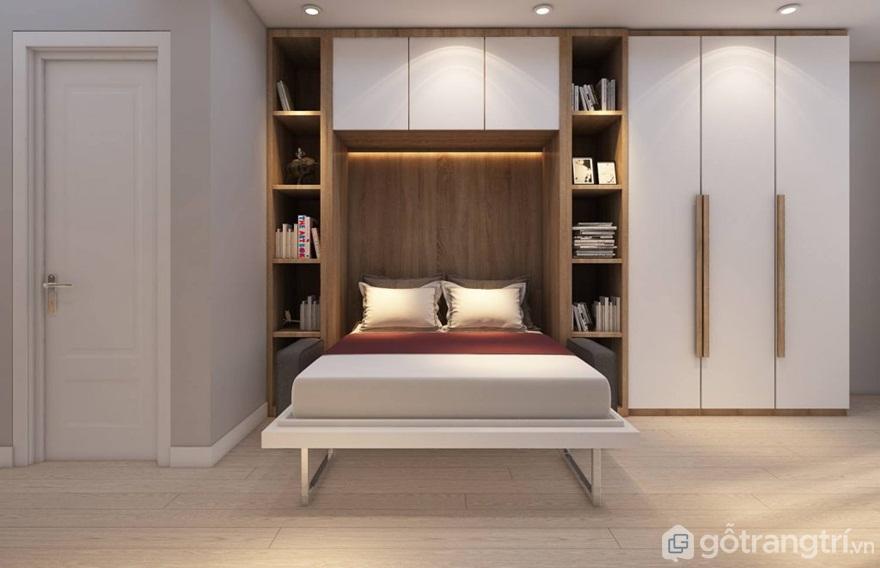 Tủ quần áo thông minh kết hợp với giường ngủ - Mẫu 12 (Ảnh: Internet)