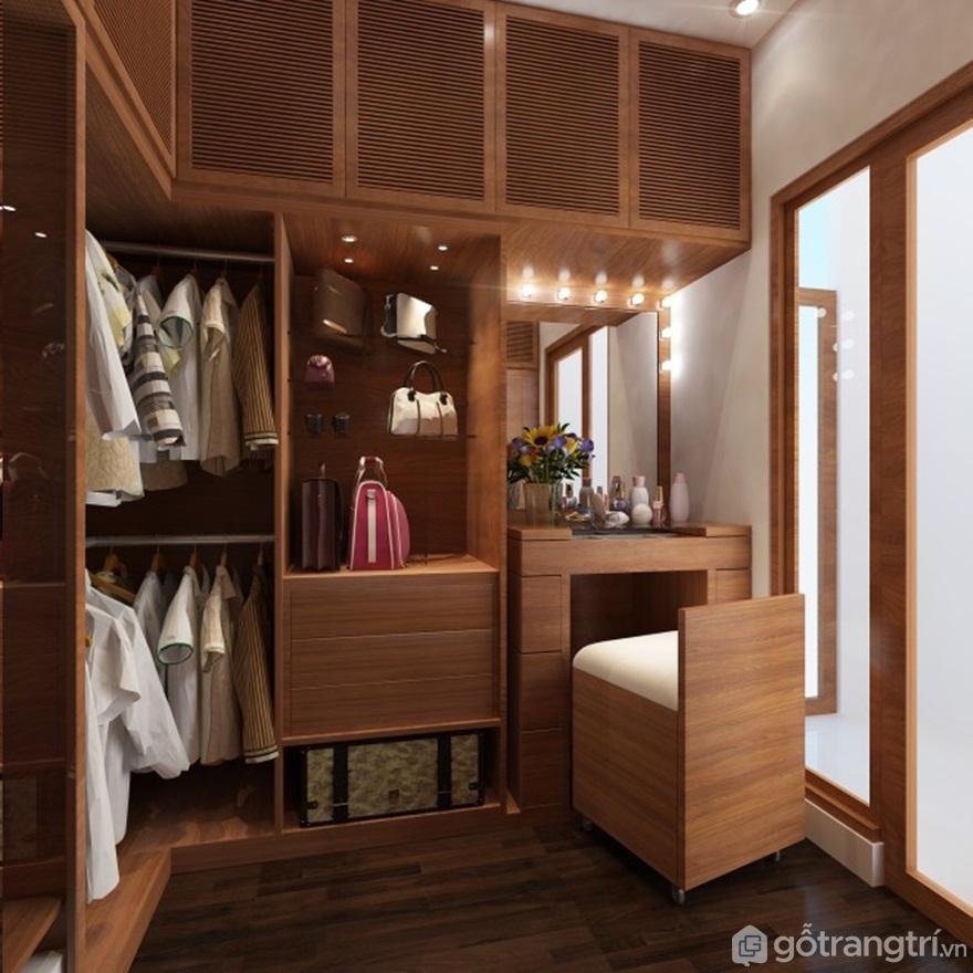 Tủ quần áo đa năng thông minh kết hợp bàn trang điểm - Mẫu 08 (Ảnh: Internet)