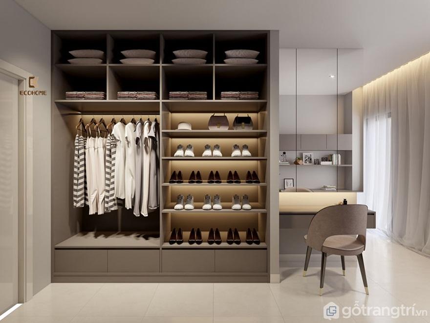 Tủ quần áo đa năng thông minh kết hợp với bàn học - Mẫu 03 (Ảnh: Internet)