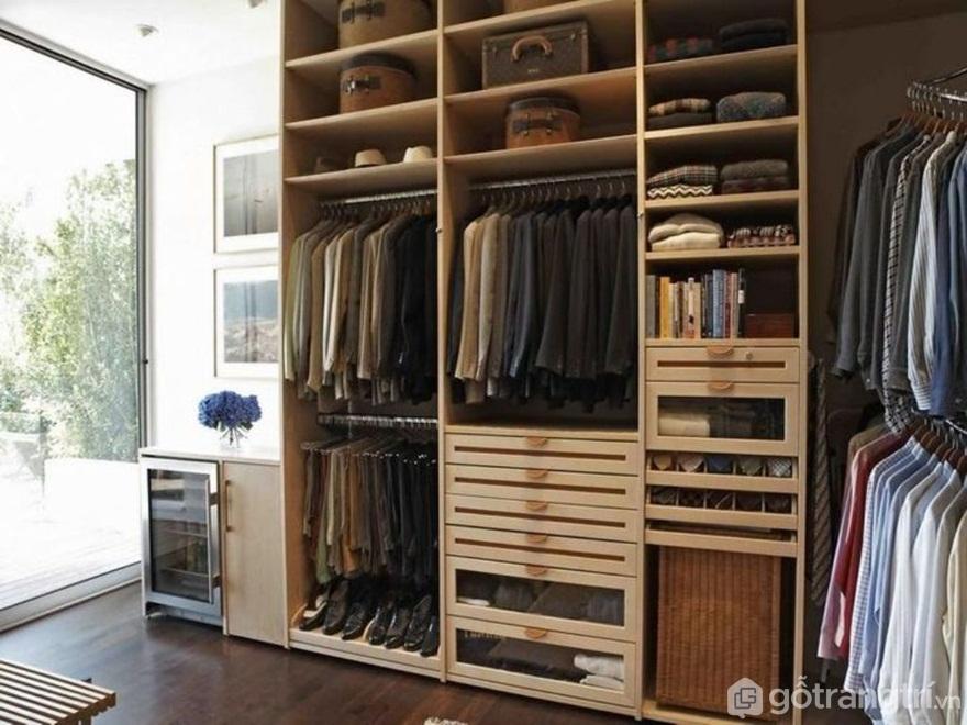 Kết cấu tủ quần áo thông minh phù hợp với mục đích sử dụng - Ảnh: Internet