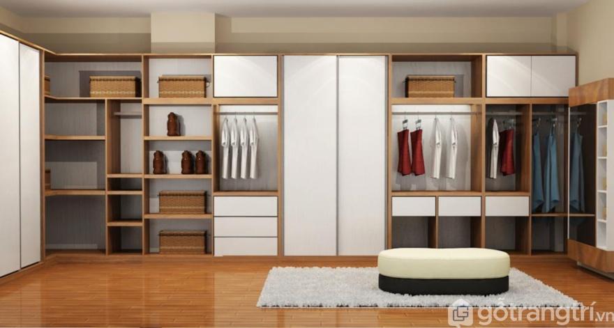 Tủ quần áo treo tường - Giải pháp thông minh cho nhà nhỏ.