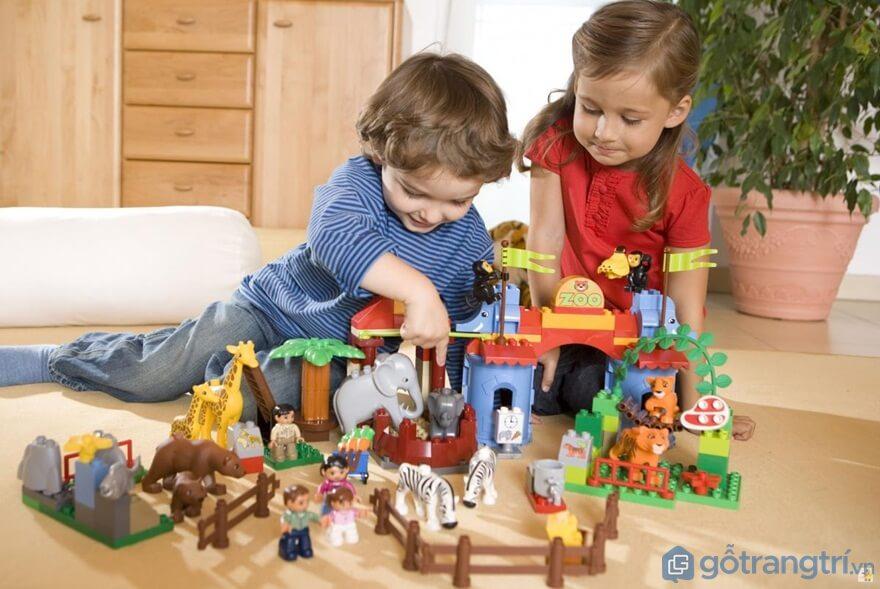 Đồ chơi lắp ghép mô hình cho bé trai và bé gái 3 tuổi giúp phát triển trí não cho trẻ - Ảnh: Internet