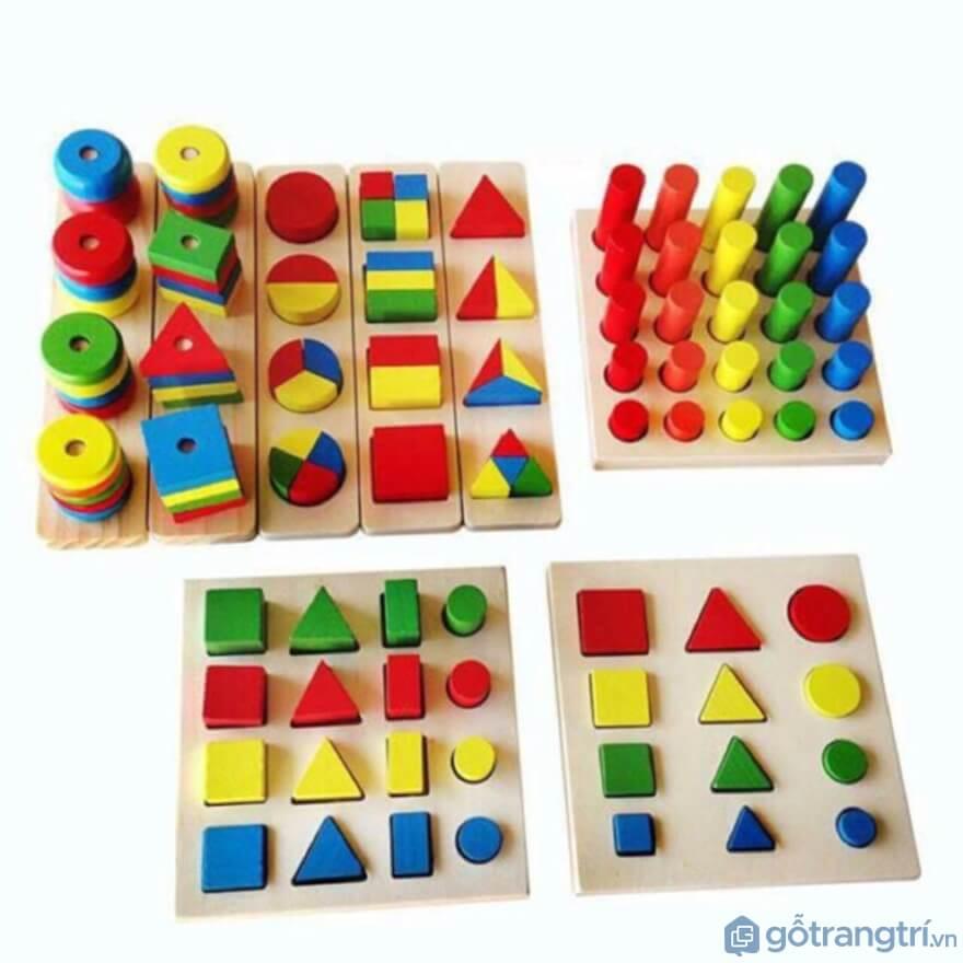 Những dòng đồ chơi liên quan tới sự phát triển khả năng ngôn ngữ, hay làm quen với mặt chữ nhưđồ chơi gỗ Montessori - Ảnh: Internet