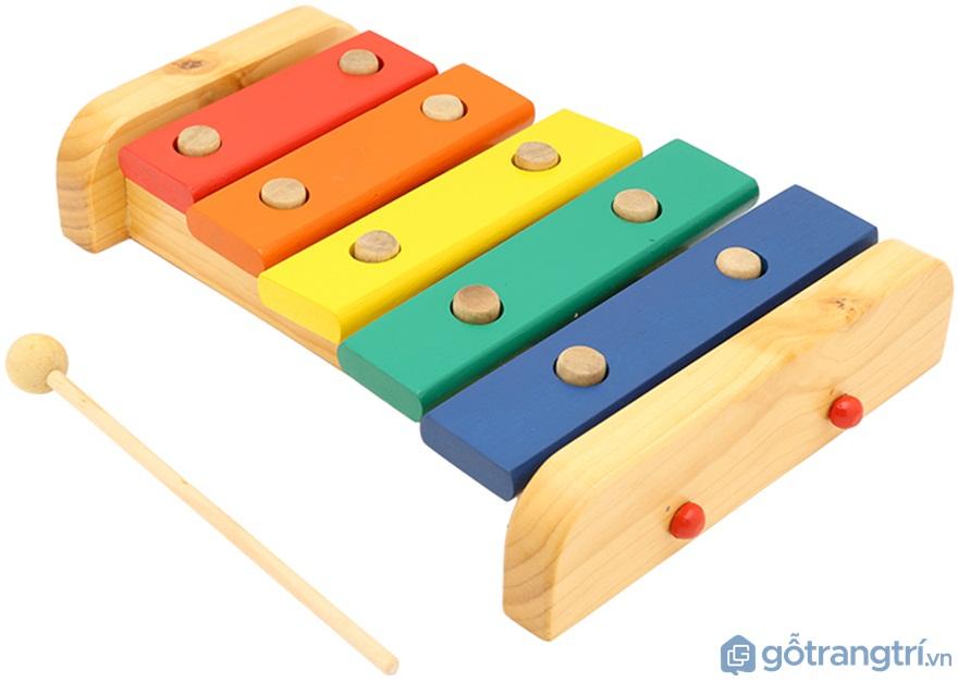 Đồ chơi cho bé gái 1 tuổi: Đàn gỗ Xylophone - Ảnh: Internet