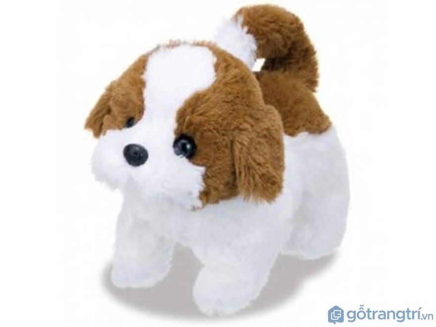 Đồ chơi cho bé gái 1 tuổi: Chó bông trắng Teacup - Ảnh: Internet