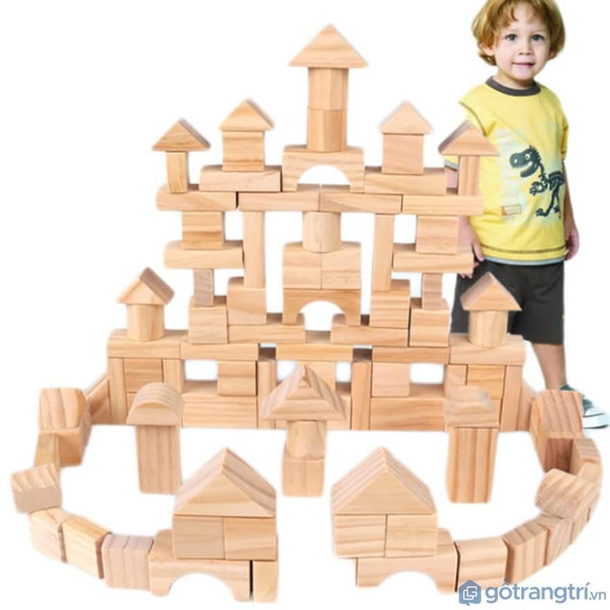 Đồ chơi cho bé trai 1 tuổi: Đồ chơi xếp hình khối - Ảnh: Internet