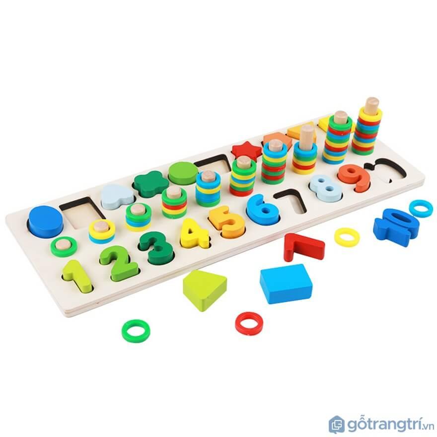 Tạo tính tự lập cho trẻ với đồ chơi xếp chữ - Ảnh: Internet