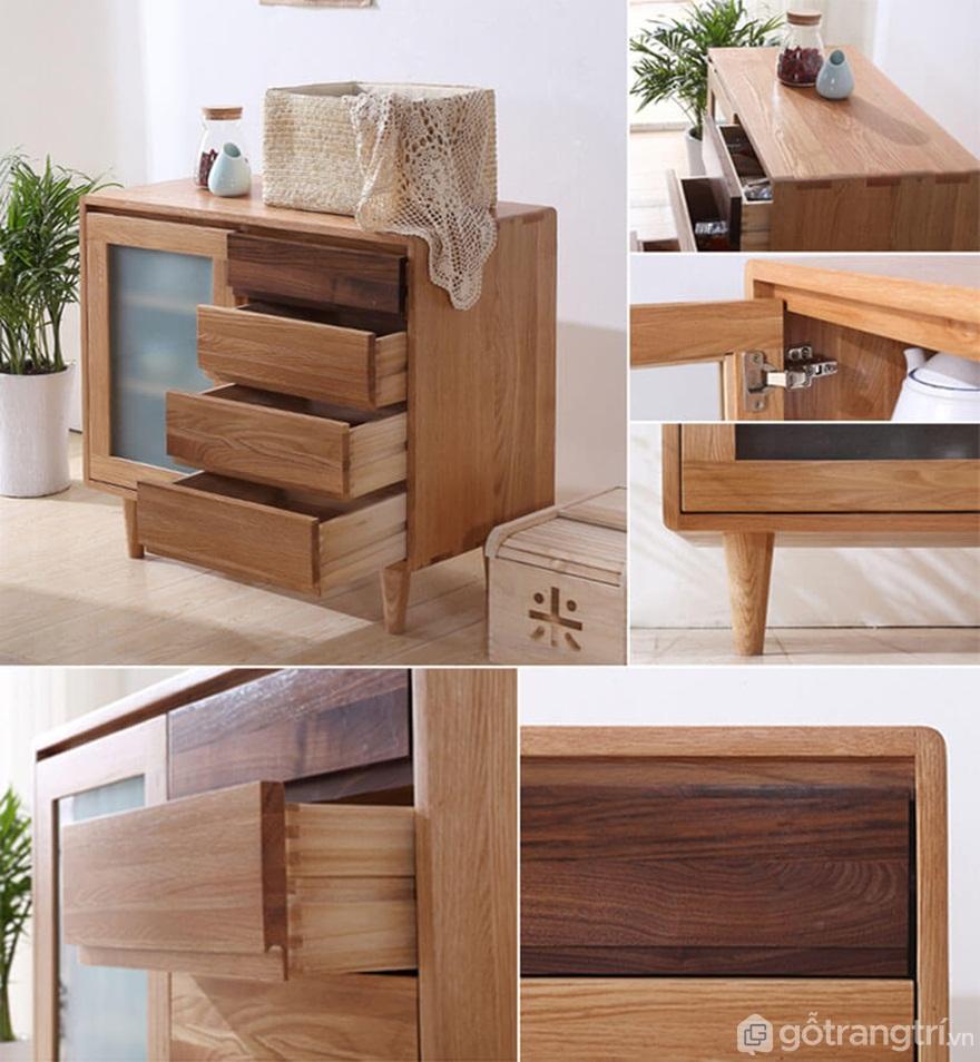 Tủ bếp gỗ tự nhiên có hiện tượng cong vênh - Ảnh: Internet