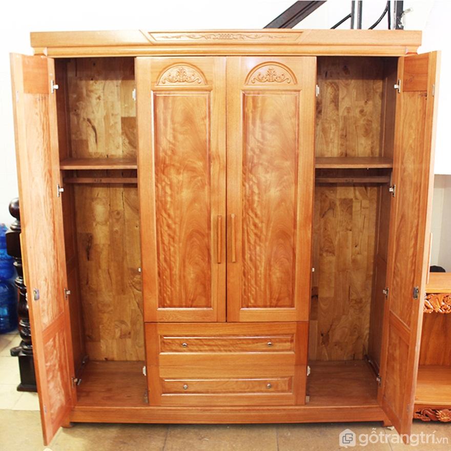 Tủ bếp gỗ giáng hương - Ảnh: Internet